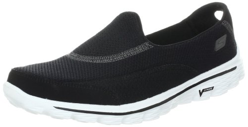 Skechers Ytelse Kvinner Gå Tur To Slip-on Walking Sko, Sort, Hvit, 7,5 M Oss