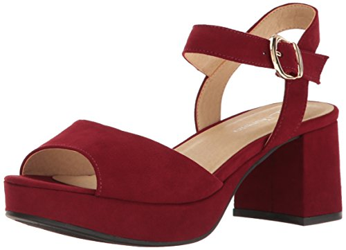 Sandal Women's Super Suede Laundry Chinese by Cherry Red Platform Kensie Dress CL qHB0F0