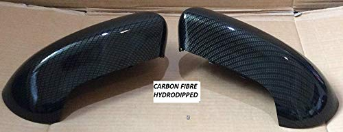 FITS NISSAN JUKE 2014 PAIR OF WING MIRROR COVERS CARBON FIBRE HYDRO-DIPPED
