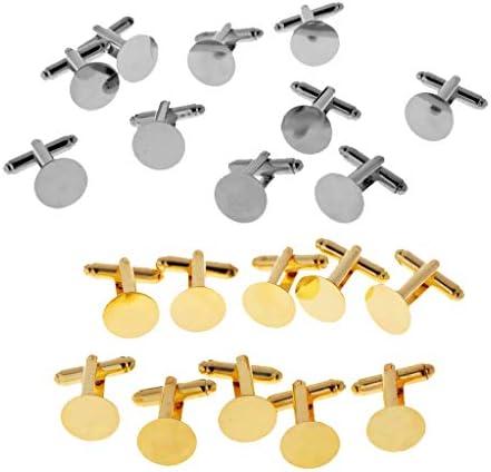 約20個 銅製 カフスボタン ラウンド カフリンクス アパレル用 アクセサリー用 金具