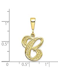 10k Yellow Gold SCRIPT Initial C Pendant