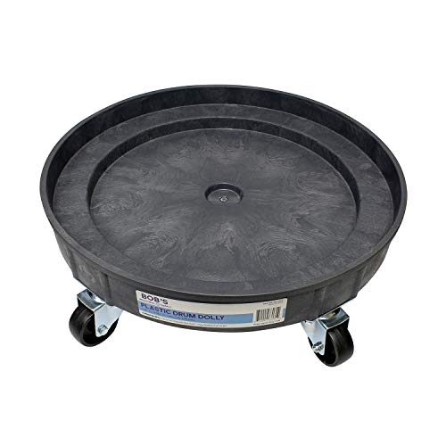 BISupply Plastic 30 55 Gal Drum Dolly Barrel Cart Barrel Dolly for 55 Gallon Drum Dolly 55 Gallon 30 Gallon Drum Dolly