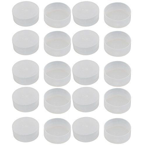 uxcell 20pcs M56 White Plastic Thread Round Cabinet Chair Leg Insert Cover Protector by uxcell