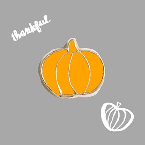 Orange Pumpkin Halloween Harvest Floating Charm fits Origami Owl Lockets -