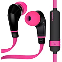 Naztech NX80 Wireless Earphones, HD Stereo Sound with Enhanced Bass, Bluetooth 4.1 Technology, Built-in Mic & Remote, 6hr Battery for iPhone/iPad/iPod/Android Smartphones & Tablets (PINK/BLACK)