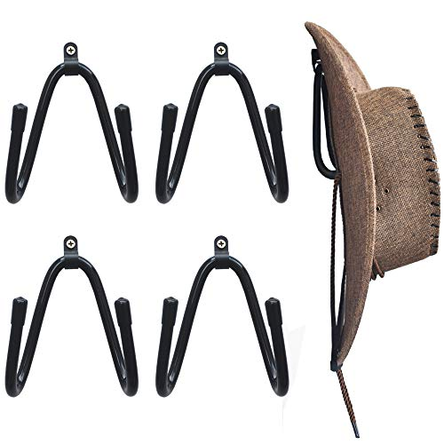 YYST Cowboy Hat Rack Hat Holder Hat Organizer Hat Wall Mount - 4/PK No Hat