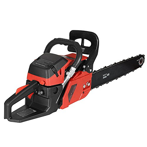 Leoneva 58CC 20'' Petrol Chainsaw 3.5 HP Gas Powered Woodcutting Saw 2 Stroke, Bar Cover & Tool Kit by Leoneva