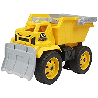 The Trendy Turtle Yellow Dump Truck Sand Truck with Working Bucket and Shovel Vehicle Toy - 13 Inches x 9 Inches