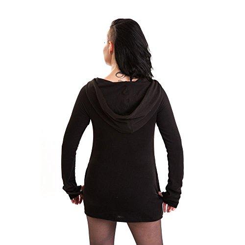 Industries poizen gilet en tricot pour femme avec capuche et fermeture éclair-adele gilet style gothique