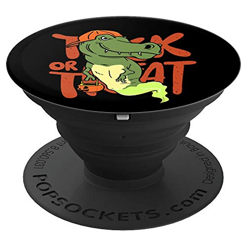 Cool T Rex Dinosaur Funny Halloween Trick or Treat - PopSockets Grip and Stand for Phones and Tablets