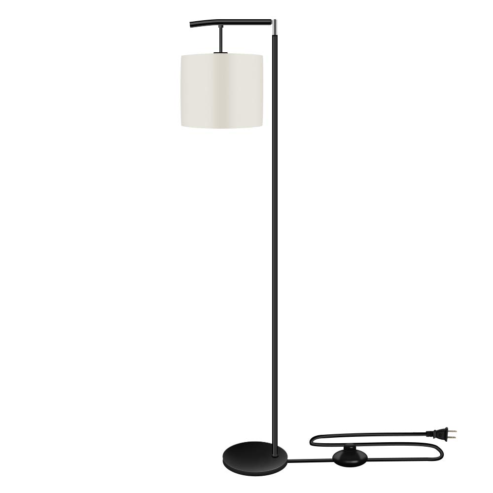 Eterbiz LED Floor Lamp Light-Tall Standing Modern Pole Light Industrial Light with Hanging Shade Heavy Strong Iron Base Modern Standing Light Without Bulb for Living Room and Bedroom