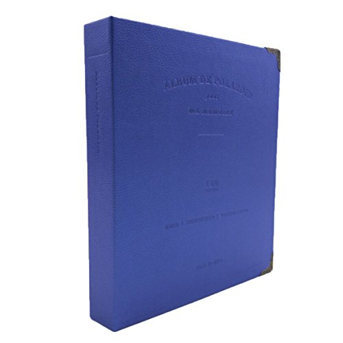 Fujifilm Instax Photo Album  Woodmin 120 Pockets Elegant Leather Coil Photo Album For Polaroid 3 Inch Films  Name Card Holder Book Navy