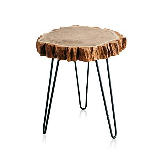 Live Edge Coffee Table, Wood Slab Coffee Table, Modern Mid Century Hairpin Legs Coffee Table, 16
