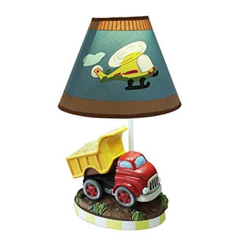 (WZJ-TABLE LAMP American Country Cartoon Truck Retro Style Home Living Room Bedroom Decorative Lighting Table Lamp)