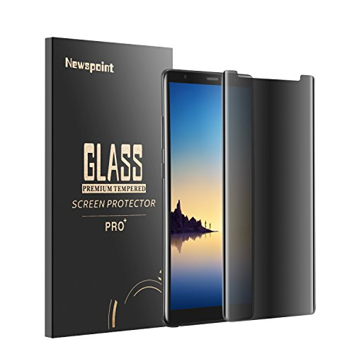 Newspoint 92707 Galaxy Note 8 Screen Protector, Case Friendly, 9H Hardness, Bubble Free, Anti Scratch - Black