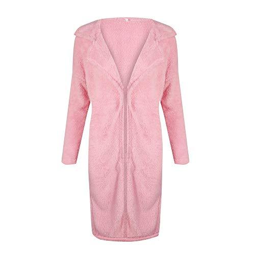 Manga Abrigos Parkas Espesar Mujer Otoño Con Invierno Outerwear Gabardina Pink Informales Ropa Cinturón Larga Sólidos Chaqueta Colores rnzrWxw