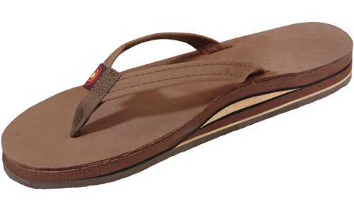 b93035c87ee Rainbow Sandals Women s Premier Leather Double Stack Narrow Strap ...