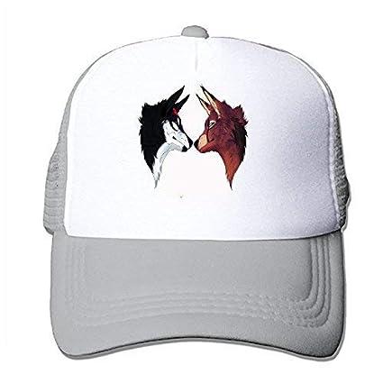 Amazon.com   T.Brent Two Wolves Adjustable Snapback Baseball Cap ... 1c97c7b5ba5