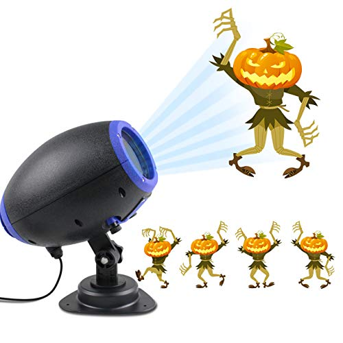 UOOYOO Halloween Projector Light GIF Slide Outdoor Waterproof Landscape Lighting Christmas Lights Party Thanks Giving Birthday Light with Wireless Remote -
