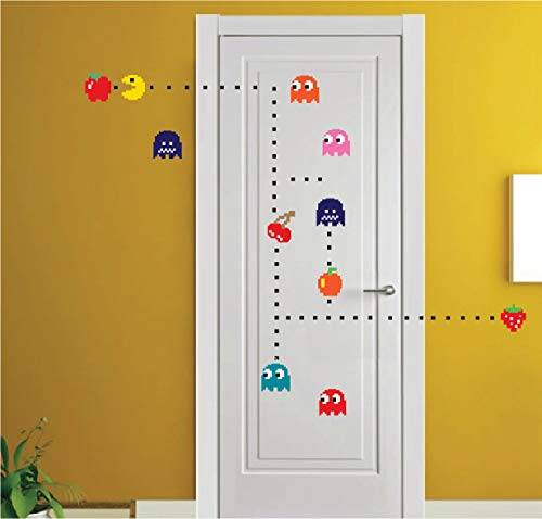 Pac Man Sticker for The Bedroom - Pac-Man Wall Decal Atari Bedroom Design Game Room Pac-Man Wall Mural, n52 by Prime Decals (Image #1)