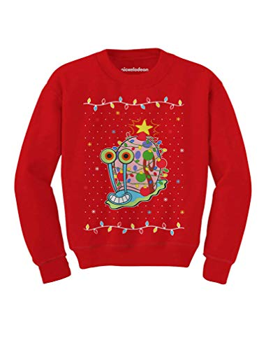 Tstars - Spongebob - Gary The Snail Christmas Toddler/Kids Sweatshirt 5/6 Red