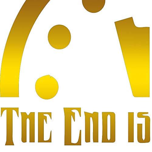 - THE END IS COMING DOOMSDAY CLOCK COUNTDOWN SHIRT (METALLIC GOLD) (set of 2) Premium Waterproof Vinyl Decal Stickers for Laptop Phone Accessory Helmet Car Window Bumper Mug Tuber Cup Door Wall