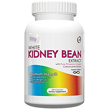 White Kidney Bean Extract- 1000mg Per Serving, 200 Capsules,White Kidney Bean Extract for Weight Loss,Carb Blocker, Summer Diet Hack,(Value Size)