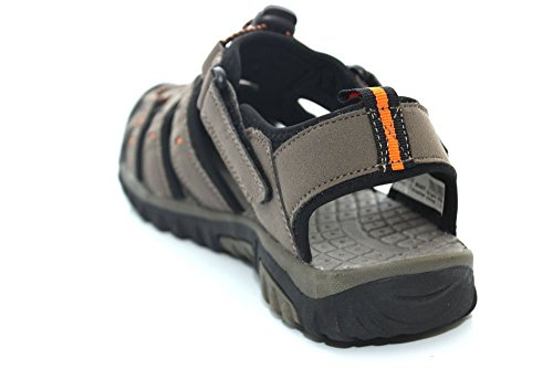 PDQ Boys Toggle Velcro Summer Trail Sandals Grey Beige AjMiihCw