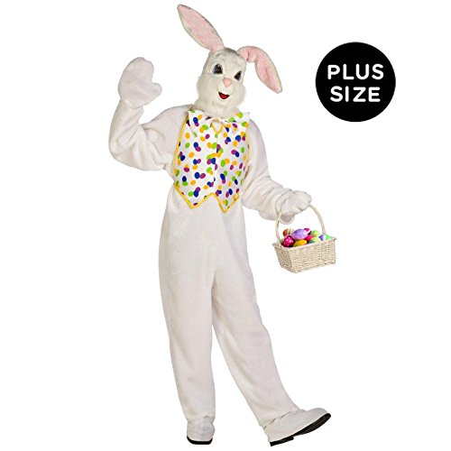 Palamon - Deluxe Easter Bunny Adult Plus Costume - Plus - White (Adult Plus Costumes)