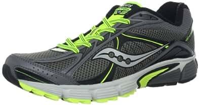 Saucony Men's Ignition 4 Running Shoe,Grey/Black/Citron,7.5 M US