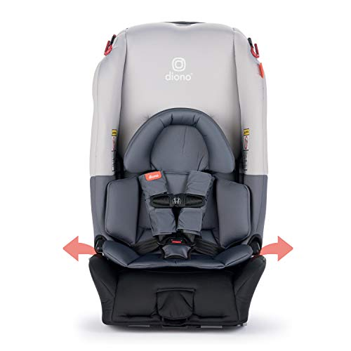 Diono Radian 3RX All-in-One Convertible Car Seat – Extended Rear-Facing 5-45 Pounds, Forward-Facing to 65 Pounds, Booster to 120 Pounds - The Original 3 Across, Light Grey