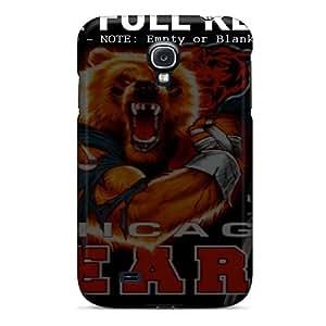 Anti-Scratch Hard Cell-phone Case For Samsung Galaxy S4 (chl6259PbCR) Custom Beautiful Chicago Bears Skin