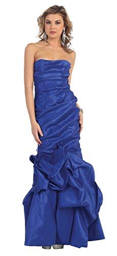 für Kleid lang Meerjungfrau Silvesterball Ballkleid Royalblau figurbetont Opernball Abschlusskleid Hochzeit Abi bodenlang Abendkleid Abendmode Damen zSrrdw