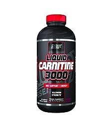 Nutrex Research Liquid 3,000 Carnitine Supplement, Berry Blast, 16 Fluid Ounce