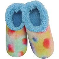 Slumbies Womens Tie Dye Slippers - Cotton Candy - House Slippers for Women