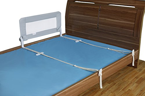 toddler bed rail guard for convertible crib kids twin double full size queen king grey. Black Bedroom Furniture Sets. Home Design Ideas