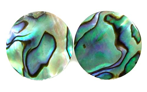 - Iridescent Round Abalone Shell Stud Earrings Handmade Women Jewelry AA278