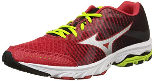 Mizuno Herren Wave Elevation Schuhe mehrfarbig (Chinesered/Black/Limepunch)