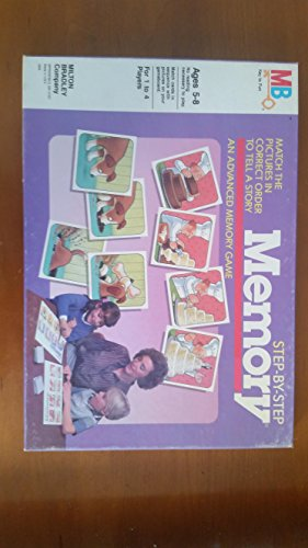(Step-by-Step MEMORY (Ages 5-8, 1 to 4 players), Milton Bradley Company 1986)