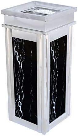 キッチンゴミ箱 屋内/屋外の集計パネルのごみ箱で灰骨壺、装飾的な溝付きパネル、ステンレススチール製灰皿、耐候性(容量:12L以上) ごみ収集 (サイズ : Upper opening design)