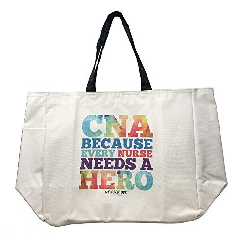 Tote Bag Chrome Printed CNA Nurse Hero Canvas Feel Cutieful -