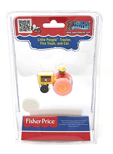World's Smallest Fisher-Price Little People Vehicles - Tractor - Fire Truck - Car - Set of 3 - http://coolthings.us
