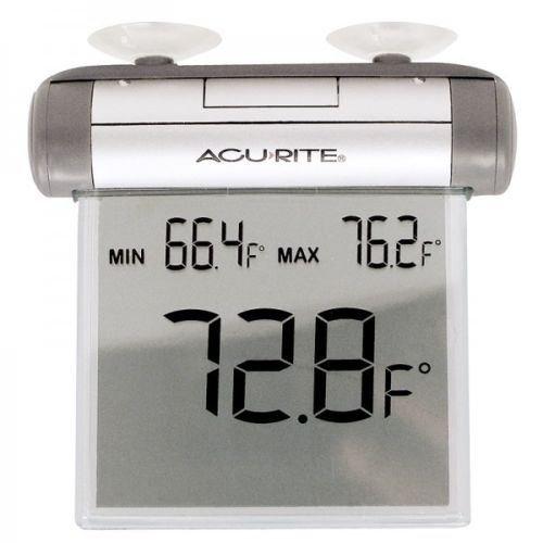 Chaney Acu Rite 00603 Digital Window Thermometer - Acu Rite Outdoor Lcd Window