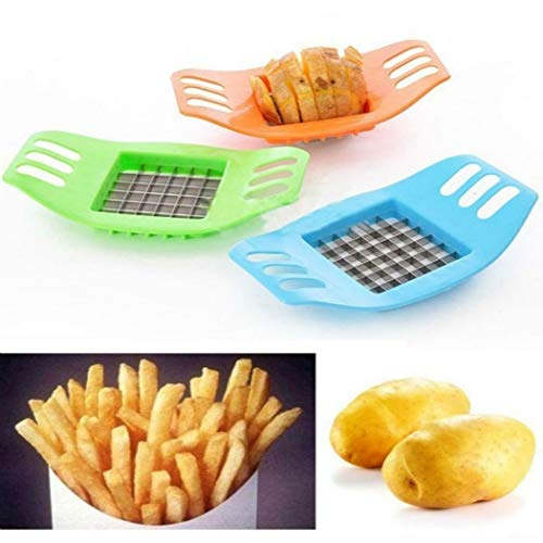 Idomeo New Potato Cutter Portable Grid Slicer Hand-Cut Potato DIY Fries Kitchen Tool Fruit & Vegetable Tools