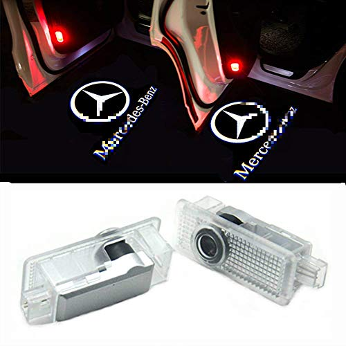 2010 Mercedes Clk Cabriolet - WFB Car Door LED Logo Shadow Lights 2Pcs (CLA CLS)