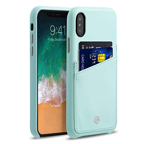 Cobble Pro Premium Handcrafted Slim Fit Wallet Leather Phone Case Compatible with Apple iPhone Xs/X 5.8