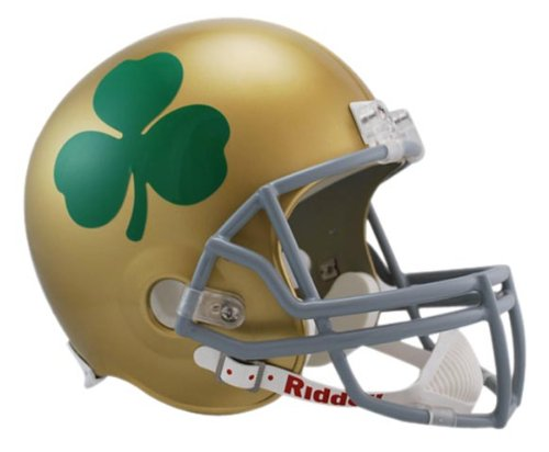 NCAA Notre Dame Fighting Irish Shamrock Deluxe Replica Football Helmet by Riddell