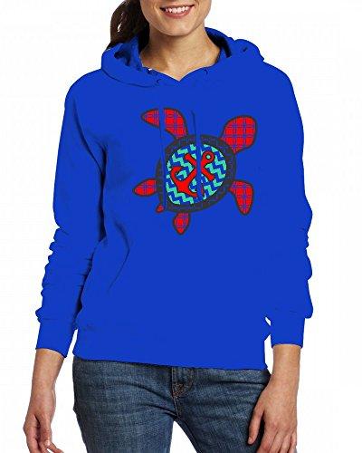 Sweartshirts Fleece And Custom Anchor Turtle Qingdaodeyangguo Hoodie Womens Blue w60RWqB