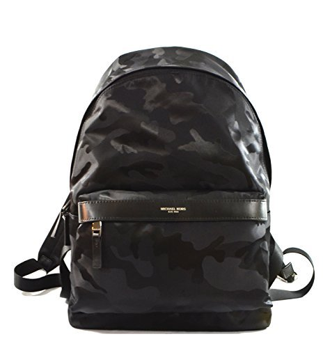 Michael Kors Kent Nylon Backpack For Work School Office Travel (Camouflage Black)