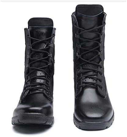 男性と女性のCortexレースアップスタイルラバーソールのために滑り止めのために砂漠の戦闘ブーツの靴通気穴あき軽量 (色 : 黒, サイズ : 24 CM)